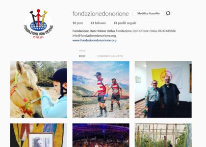 Attiva la pagina Instagram della Fondazione Don Orione Onlus